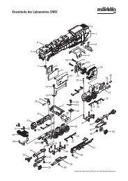 Einzelteile der Lokomotive 37097