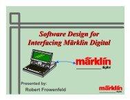 Software Design for Interfacing Märklin Digital