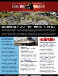 New Items Report 2012 - Part 1 - Marklin, Trix and LGB - Euro Rail ...