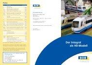Infoprosekt: Der Integral als H0-Modell - Bayerische Oberlandbahn