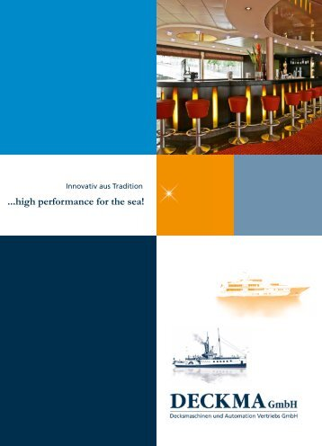 ...high performance for the sea! - Deckma GmbH