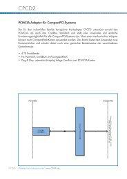 PCMCIA-Adapter für CompactPCI-Systeme