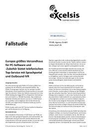 Fallstudie - Excelsis Business Technology AG