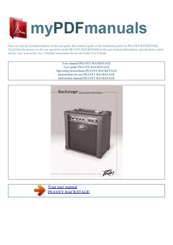 p n voltage current d rh yumpu com Peavey Bandit 112 Schematic Peavey Precision Transducer CL1 Cluster
