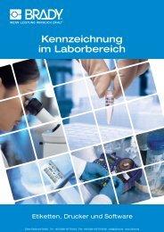 BRADY Kennzeichnung im Laborbereich - Zillner Elektronik GmbH