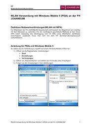 WLAN Verwendung mit Windows Mobile 5 (PDA ... - Android-Hilfe.de