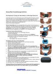 Bedienungsanleitung SensorPad