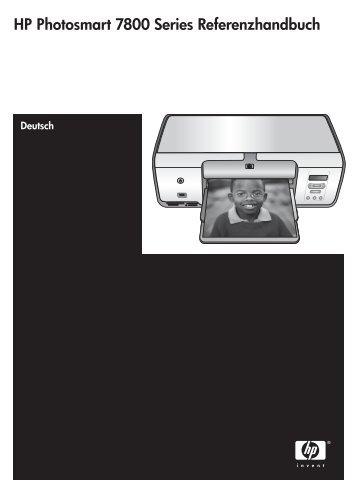 HP Photosmart 7800 Series Referenzhandbuch