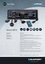 Car Radio Bremen MP78
