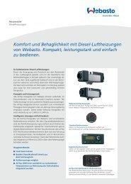 Komfort und Behaglichkeit mit Diesel-Luftheizungen von Webasto ...
