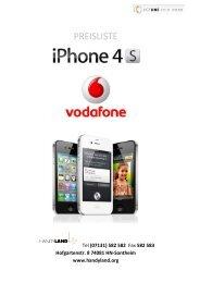 Iphone 4S & iPad 2 Vodafone Tarife PK
