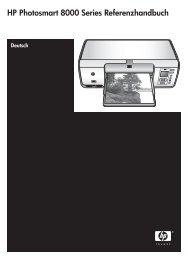 HP Photosmart 8000 Series Referenzhandbuch
