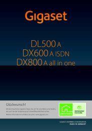 Gigaset DX800A all in one, DX600A ISDN und DL500A