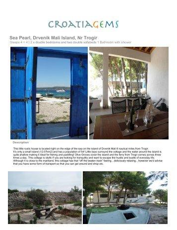 Sea Pearl, Drvenik Mali Island, Nr Trogir - Croatia Gems