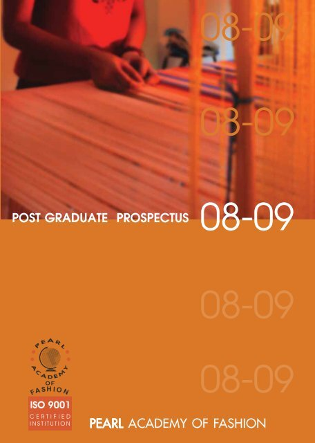 POST GRADUATE PROSPECTUS PEARL ACADEMY OF FASHION