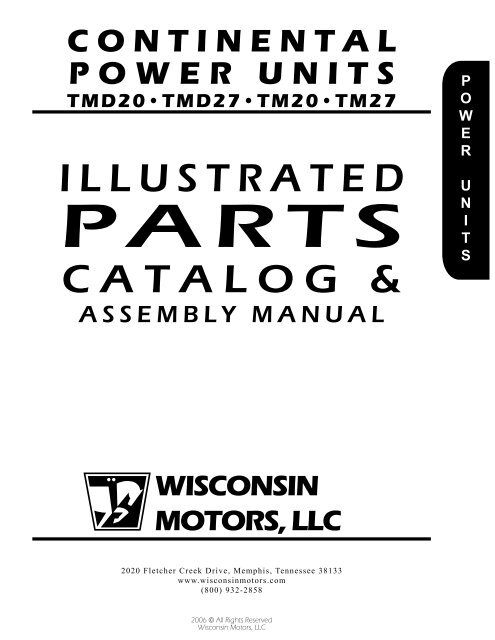 TMD20, TMD27, TM20, TM27 - Wisconsin Motors