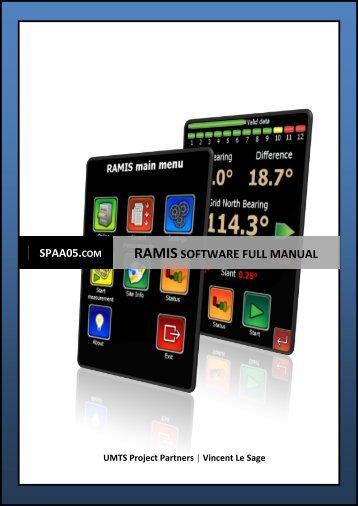 RAMIS software full manual - SPAA05.com