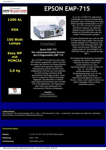 Epson EMP-715 - Beamer