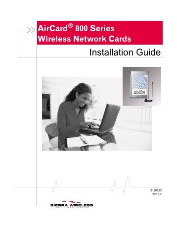 AirCard 800 Series Wireless Network Cards - O2