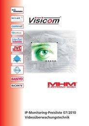 Visicom IP-Monitoring Preisliste 07/2010 - ViSiTec Video-Sicherheit ...