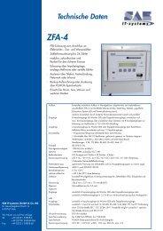 Technische Daten ZFA-4 - SAE IT-systems GmbH & Co. KG