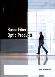 MICROSENS Basic Fiber Optic Products - GORDION