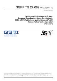 GSM - UMTS Public Land Mobile Network