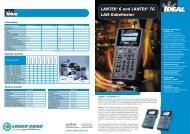LANTEK® 6 und LANTEK® 7G LAN-Kabeltester - Laser 2000 GmbH