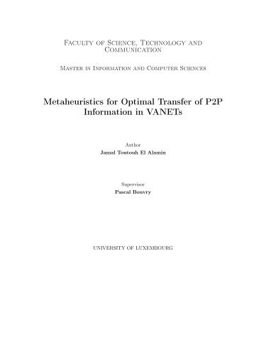 Metaheuristics for Optimal Transfer of P2P - NEO - Universidad de ...