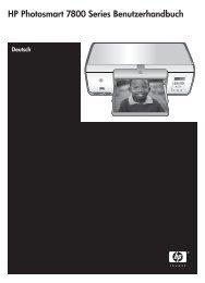 HP Photosmart 7800 Series Benutzerhandbuch