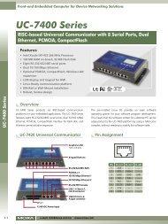 UC-7400 Series - Industrial Networks