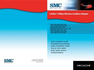 SMC2635W 2.4GHz 11Mbps Wireless Cardbus Adapter
