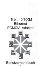 16-bit 10/100M Ethernet PCMCIA Adapter Benutzerhandbuch - Digitus