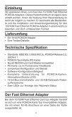 16-bit 10/100M Ethernet PCMCIA Adapter Benutzerhandbuch - Digitus - Page 2
