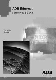 ethernet user manual - ADB Lighting Technologies