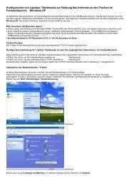 Konfiguration von Laptops / Notebooks zur Nutzung des Internets an ...