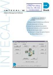 INTECAL-W -deutsch - SCHRIEVER & SCHULZ & Co. GmbH