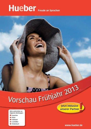 Vorschau Frühjahr 2013 - Hueber
