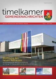 """Vom alten Gemeindeamt zum neuen """"Rathaus"""" - Marktgemeinde ..."""