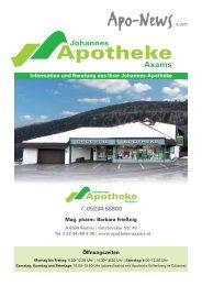 Apo News 5/2011 - Johannes Apotheke Axams