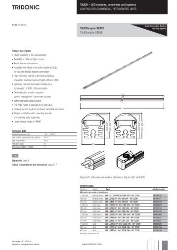U -; LED modules, converters and systems LIGHTING FOR ...