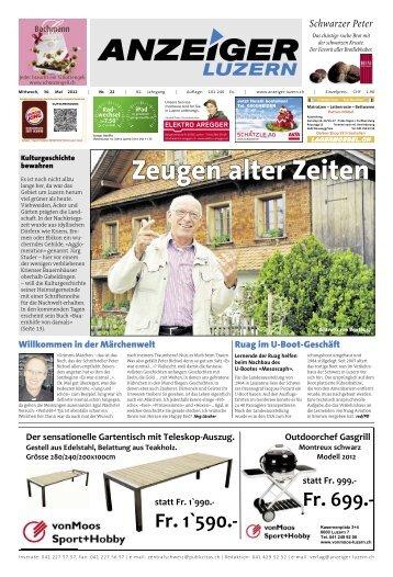 Anzeiger Luzern, Ausgabe 22, 30. Mai 2012