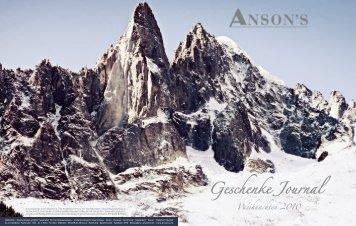 Weihnachten 2010 Geschenke Journal - Anson's