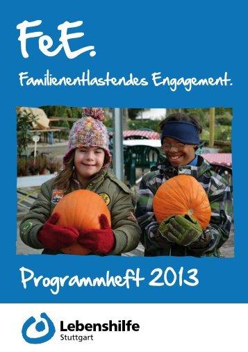 Programmheft 2013 zum Herunterladen - Lebenshilfe Stuttgart