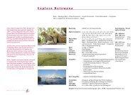 Explore Botswana Reiseverlauf - bei african-collection.ch