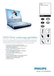 PET705/00 Philips Tragbare DVD-Player