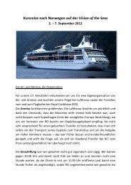 Kurzreise nach Norwegen auf der Vision of the Seas 2. – 7 ...