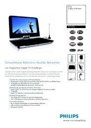 PET1035/00 Philips Tragbare DVD-Player - Onyougo.de