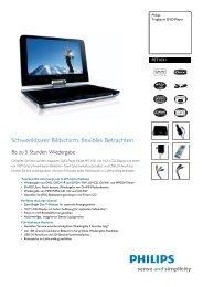 Anleitung pdf Philips PET1031/12 Portable DVD Player - Onyougo.de