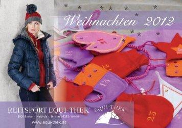 Weihnachten 2012 - Equi-Thek Reitsport GmbH